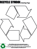 free recycle symbol coloring page