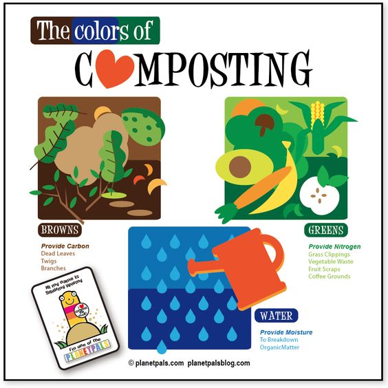A lesson in composting.  The colors of composting