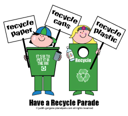 recycle bin parade
