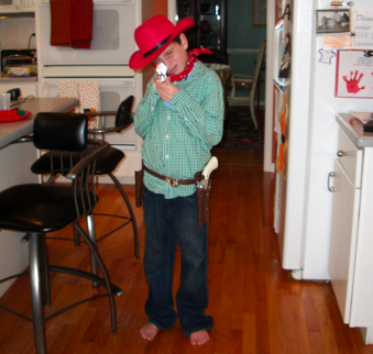 home made halloween costume cowboy