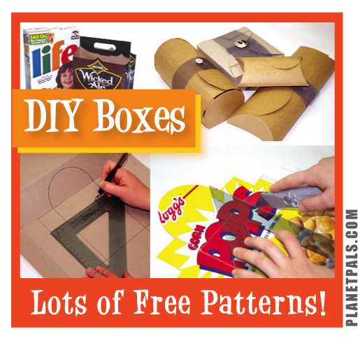 Make your own boxes from recycled materials free for Diy from recycled materials