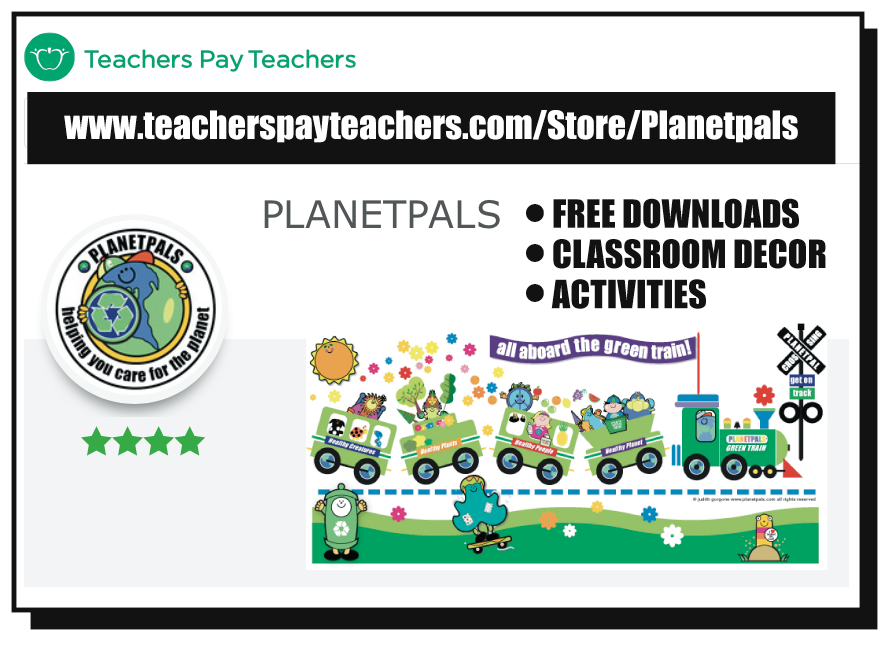 Planetpals Teacher Pay Teachers Store for Earthday and Everyday Items for the Classroom and Homeschool!