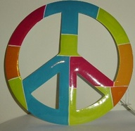 paper plate peace sign recycle craft