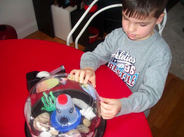 kids recycle craft plastic containers