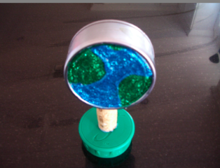 planetpals tuna can globe recycle craft