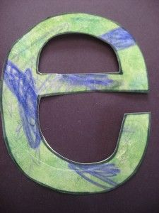letter e earthday craft