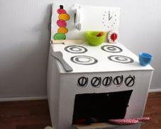 Make a Toy Play Building or Dollhouse from Recycled Boxes