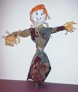 recycled tie scarecrow craft halloween
