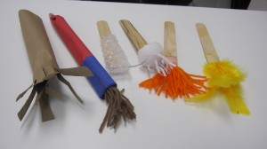 make paint brushes w recycled materials