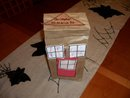 paper bag town buildings recycle craft travel toy