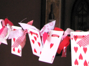 playing card recycle craft valentine