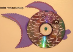 recycle cd fish craft for kids