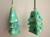 recycled egg carton christmas bell craft