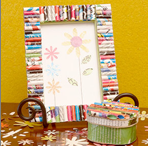 rolled picture frame recycle craft