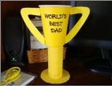 recycle trophy cup