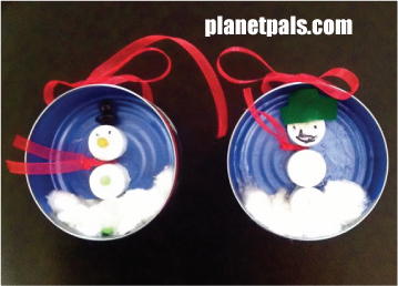 recycle craft tuna can christmas ornament