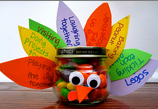 make a turkey thanksgiving recycle jar